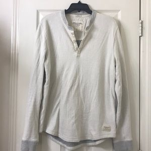 Abercrombie & Fitch long sleeve knitted Henley